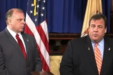"Sweeney and Christie discussing their ""compromise"" with the media."