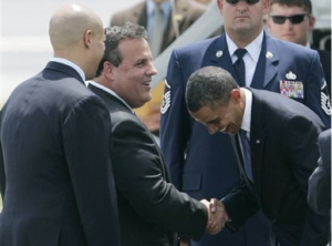 Obama Bows to Christie