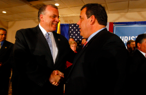 Steve Sweeney (left) and Chris Christie (right)