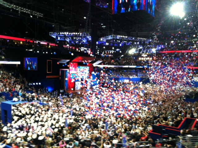 The big balloon drop after Mitt's Speech!