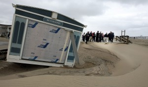 Gov. Christie tours Sandy devastation in October 2012.