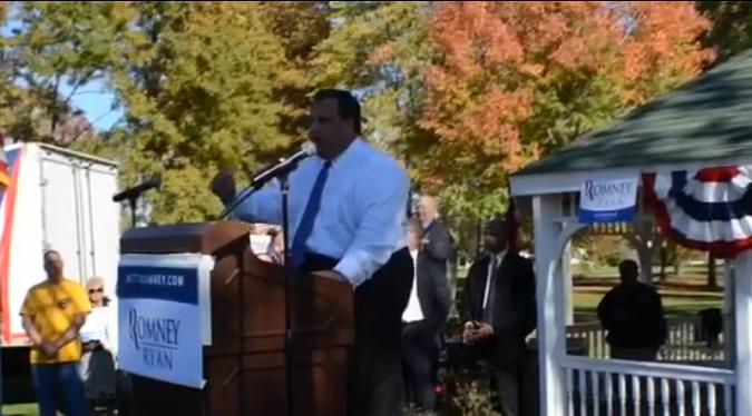 Chris Christie stumps in Ohio back in October 2012 for Mitt Romney.