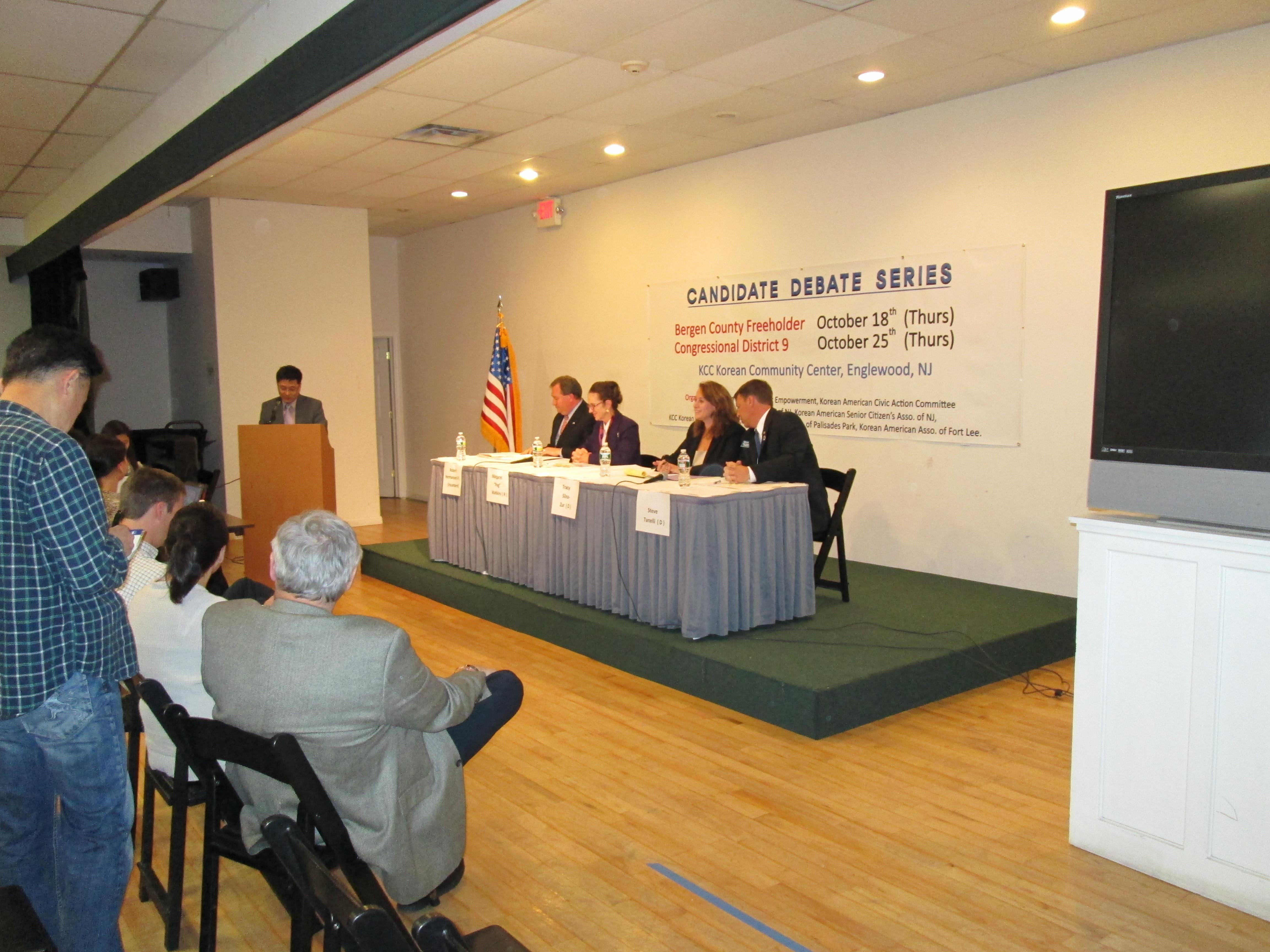 Bergen Freeholder Debate has GOP on Top at Korean Community Center in Englewood