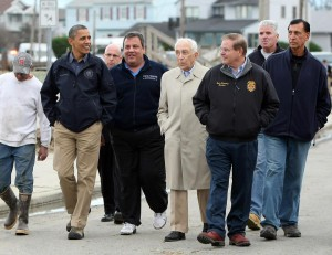 Photo Caption - Sandy Inspection Tour