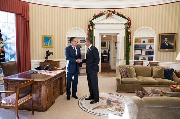 Romney and Obama after Election 2012
