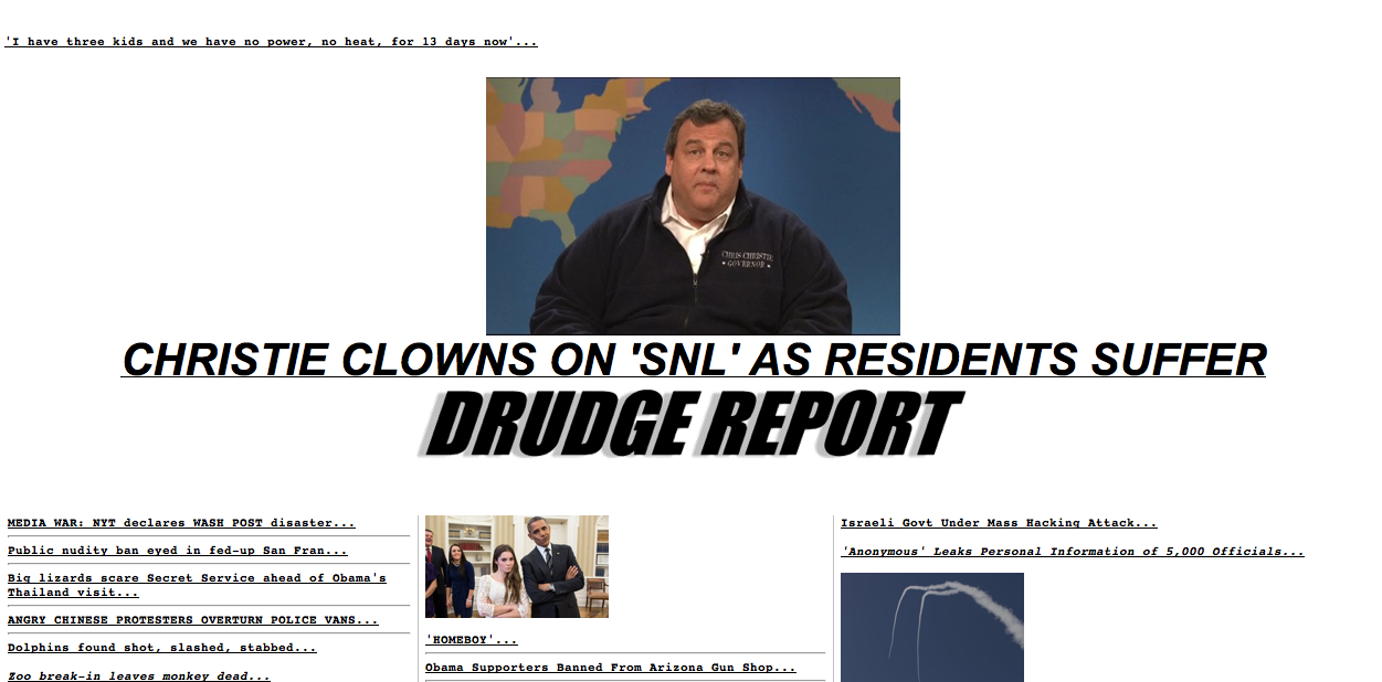 Drudge vs. Christie
