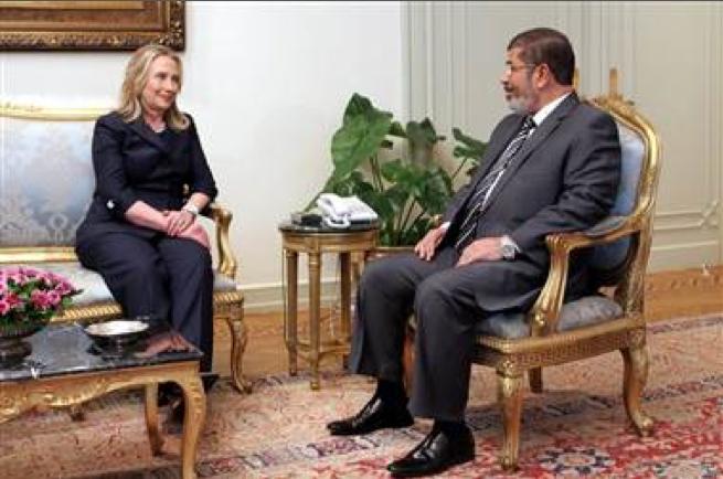 Clinton and Morsi