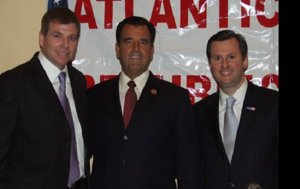 Davis (right) with Assemblymen Brown (left) and Amodeo (center) in 2013.