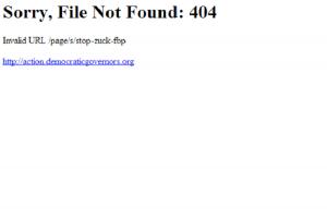 DGA Page Taken Down