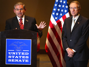 Reid and Menendez Presser