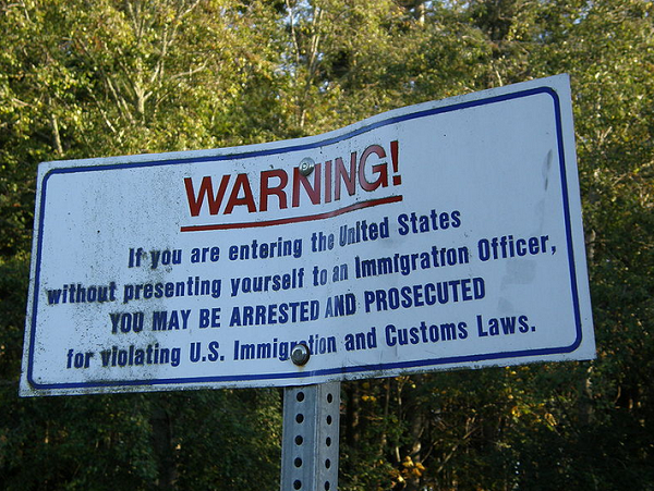 Illegal Immigration Sign