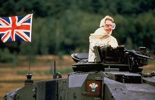Thatcher in Tank