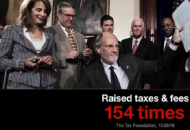 A screenshot from Governor Christie's first 2013 attack ad.