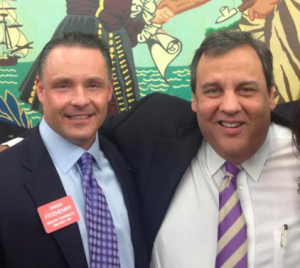 Brian Fitzhenry with Gov. Chris Christie (2013)