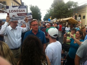 Steve Lonegan campaigning for U.S. Senate in 2013.