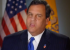 Chris Christie with flag