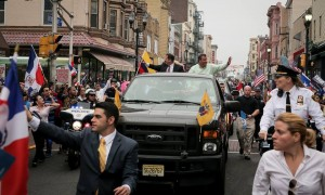 Christie and Stack at Hispanic Day Parade