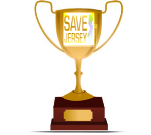 save jersey award trophy