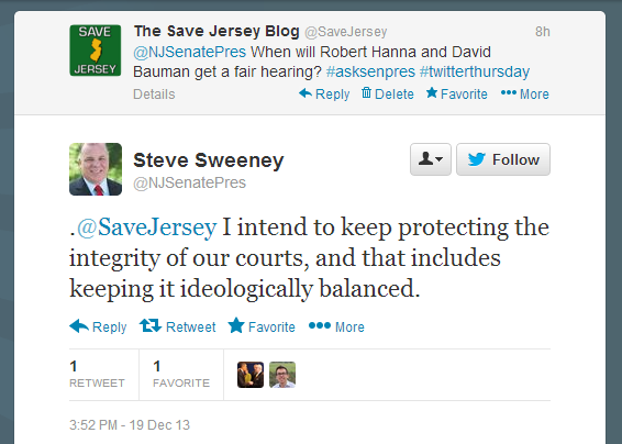 Sweeney Tweet to Save Jersey