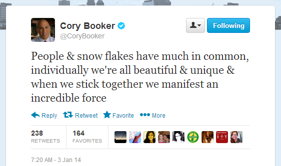 Booker Snowflake Tweet