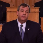 Governor Chris Christie (R-NJ) during his recent State of the State address.