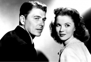 Ronald Reagan and Shirley Temple starring together in 'That Hagen Girl'
