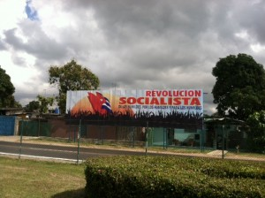 A Cuban highway billboard.