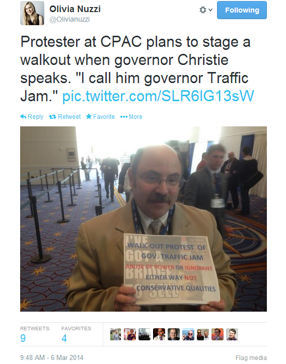 Walkout christie cpac speech
