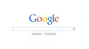 google logo landing page