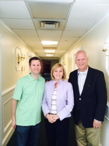 Davis (left) with LG Kim Guadagno (center) and A.C. Mayor Don Guardian (right) at a NJGOP campaign training seminar on May 31st. (via Facebook)