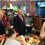 Tom MacArthur campaigning in the final hours of Primary Day 2014