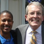 Bell poses for a photograph with NJ-06 Congressional Candidate Anthony E Wilkinson.