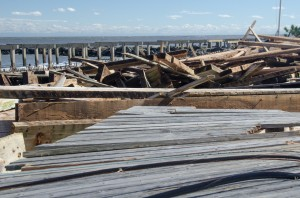 Sandy damage to the Atlantic City boardwalk