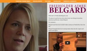 A screenshot from freeholderbelgard.com