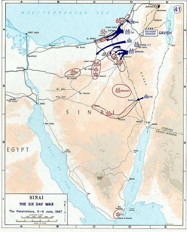 Six Day War map