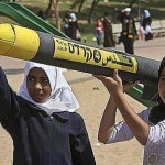 Young Palestinian Girls Carrying Rockets, Gaza, Hamas (Photo credit: IDF Blog)