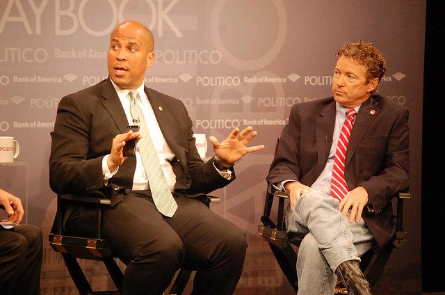Cory Booker and Rand Paul