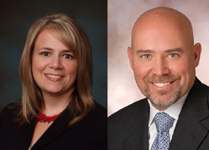 Aimee Belgard (left) and Tom MacArthur (right)