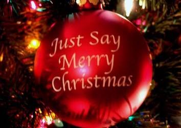 We Say Merry Xmas no flash