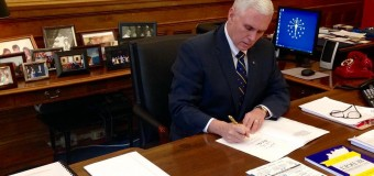 It's Pence. So why is Trump introducing him on a Saturday in July?