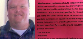 UPDATE: Union boss resigns after Westampton Democrat mailer fiasco