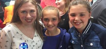 Chelsea Clinton swings through Hazlet, uses kids as props for mom's campaign