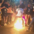 VIDEO: Man's Dress Catches Fire As He Stomps Burning Flag At DNC