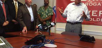 Kasich, Guadagno join MacArthur at Burlington GOP phone bank