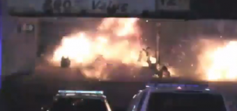 VIDEO: Robot detonates device near Elizabeth, New Jersey train station