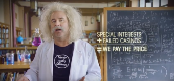 Anti-casino expansion forces enlist Einstein for new TV spot
