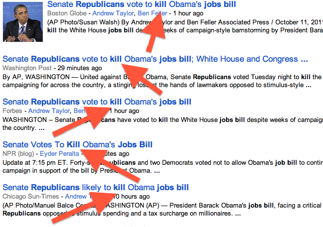 Republicans Kill Jobs Bill with Democrat Senate?