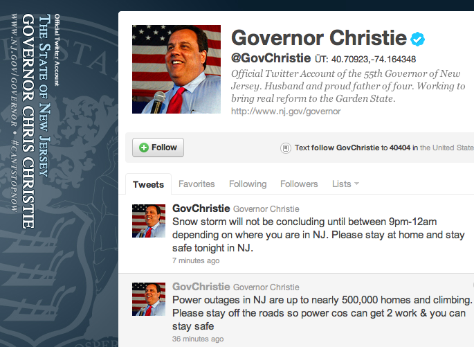 @GovChristie: Get the Hell Off the Roads, #NJ!
