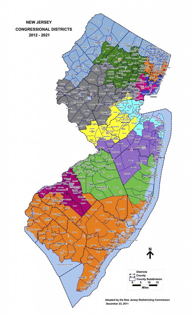 NJ Congressional map 2012-2021 (adopted12-23-11)