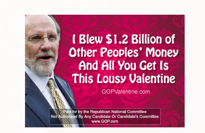 Happy Valentine's Day from Jon Corzine